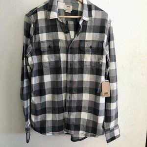 Vans, NWT, Tailored Fit, Size M Flannel Shirt
